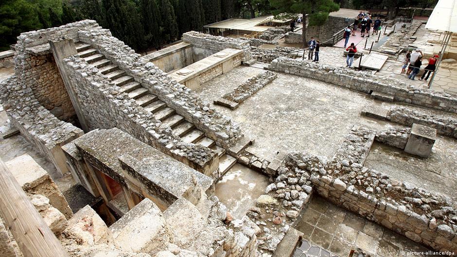 Griechenland Geschichte Antike Archäologie Palast von Knossos auf Kreta