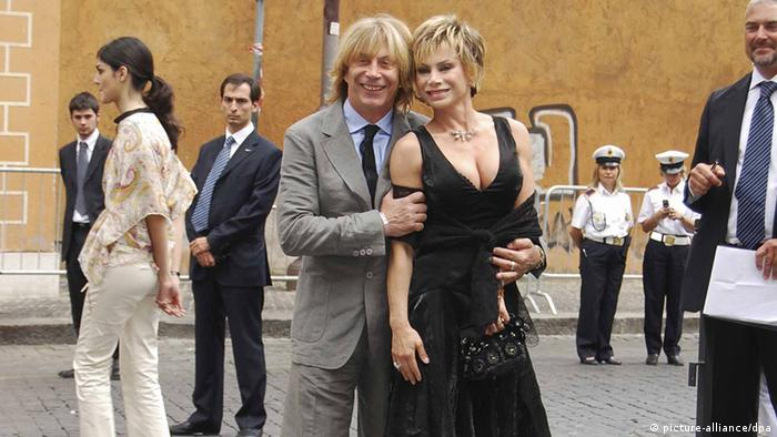 The couple Camen Russo 53 years old and Enzo Paolo Turchi 63 years old are expecting a baby in March 2013 (Photo Claudio Leone/Lapresse)
