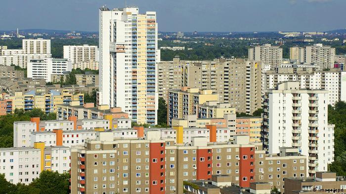 Panorama, Gropiusstadt, Flugbild, Hochhäuser im Grünen von oben,  Zulieferer: Andrea Kasiske. Foto: Andrea Kasiske