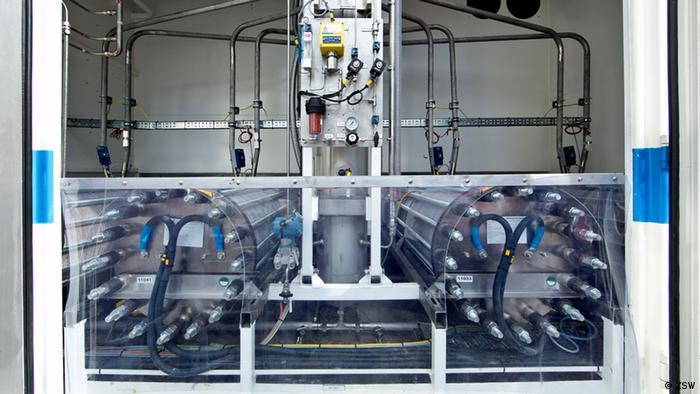 Methangasanlage in Stuttgart, in der Ökostrom in speicherbares Erdgas umgewandelt wird (Foto: Zentrum für Sonnenenergie- und Wasserstoff-Forschung Baden-Württemberg)