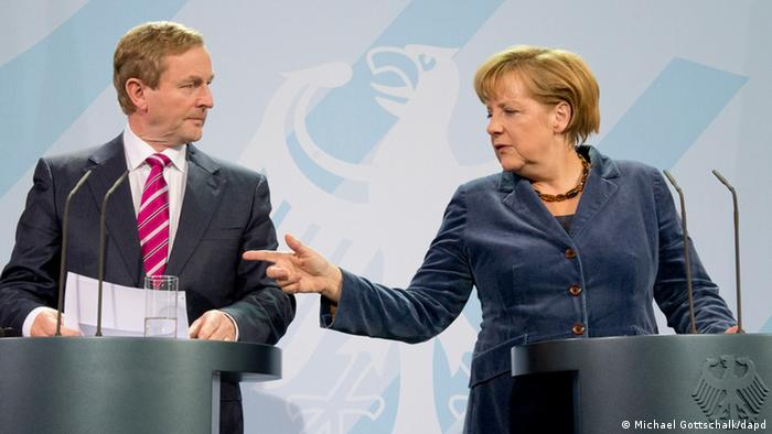 The Irish Prime Minister Enda Kenny meets with Angela Merkel in Berlin. (Photo: Michael Gottschalk/dapd)
