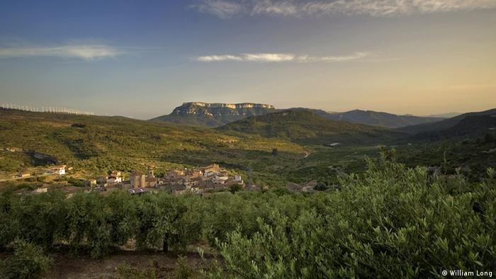 Blick über das Tal der spanischen Weinregion Pirorat (Foto: William Long)
