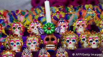 Sugar skulls for the Mexican 'Day of the Dead' celebration