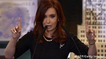 Cristina Kirchner, Argentiniens Präsidentin, AFP PHOTO / Juan Mabromata (Photo credit should read JUAN MABROMATA/AFP/GettyImages)