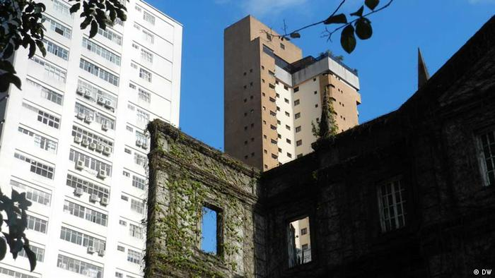 Ruins of an old house in Sao Paolo
