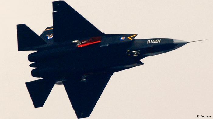 China Militär Kampfflugzeug J-31 Tarnkappenbomber Guying (Reuters)