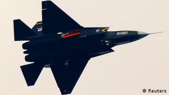 A Guying stealth fighter participates in a test flight in Shenyang, Liaoning province, October 31, 2012. China's second stealth fighter jet that was unveiled this week is part of a programme to transform China into the top regional military power, an expert on Asian security said on Friday. The fighter, the J-31, made its maiden flight on Wednesday in the northeast province of Liaoning at a facility of the Shenyang Aircraft Corp which built it, according to Chinese media. Picture taken October 31, 2012. REUTERS/Stringer (CHINA - Tags: SCIENCE TECHNOLOGY MILITARY TRANSPORT TPX IMAGES OF THE DAY) CHINA OUT. NO COMMERCIAL OR EDITORIAL SALES IN CHINA