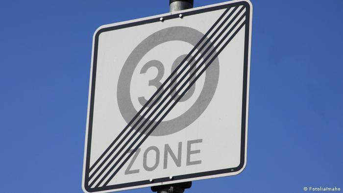 Дорожный знак Конец зоны ограничения максимальной скорости 30 км/ч