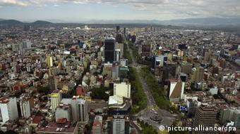 An aerial view of Mexico City Dannemiller/ZPress +++(c) dpa - Report+++