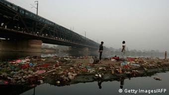 Indien Neu-Delhi Fluss Yamuna