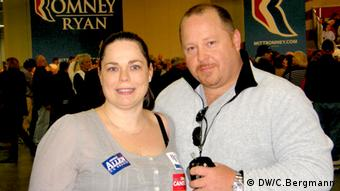 Republican supporters Chrystel Marston and husband Chris Foto: DW/Christina Bergmann 3.11.2012, CB