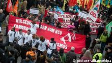 Jahrestag Aufdeckung NSU Mordserie Demonstration Protest OVERLAYFÄHIG
