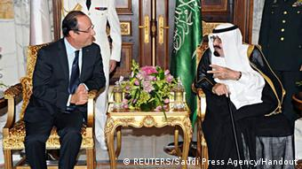 Saudi Arabien Frankreich König Abdullah Francois Hollande Jeddah