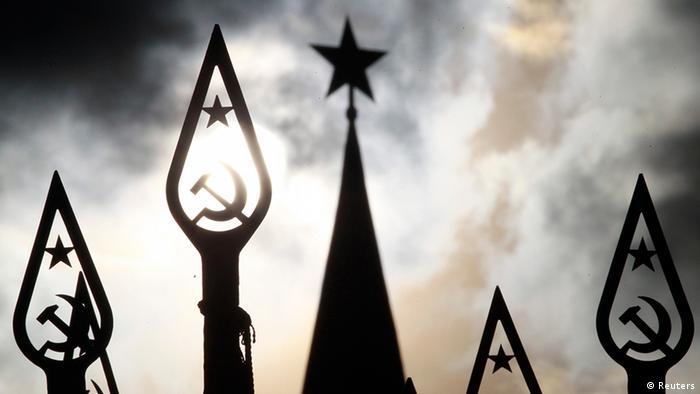 Russland Symbolbild Kommunismus Parade auf dem Roten Platz Moskau