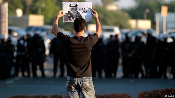 Bahrain Demonstrant in Diraz