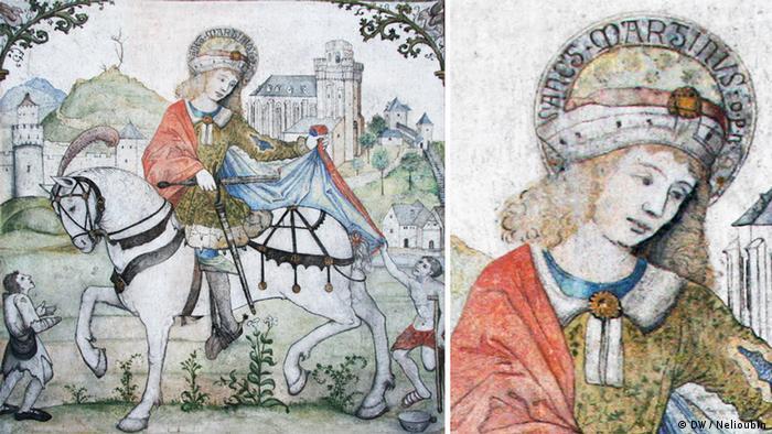 Фреска в церкви Либфрауэнкирхе в Обервезеле на Рейне