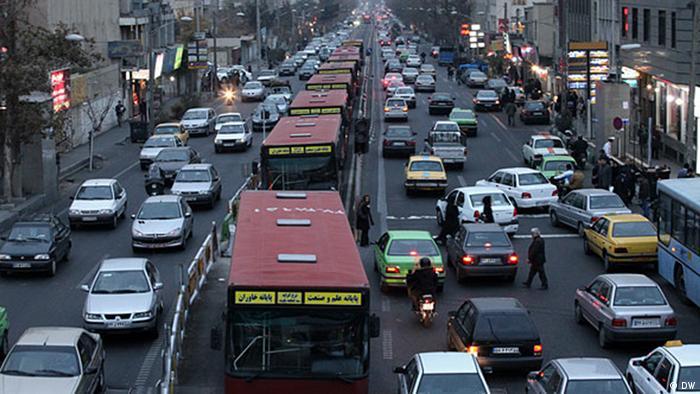 Iran Verkehr in Teheran