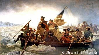 George Washington crossing the Delaware River in 1776 (ullstein bild - histopics)