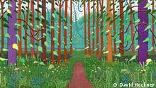 ***Achtung: Nur zur Berichterstattung über die Kölner Museumsnacht 2012 verwenden!*** David Hockney - 'The Arrival of Spring in Woldgate, East Yorkshire in 2011 (twenty eleven)' © David Hockney