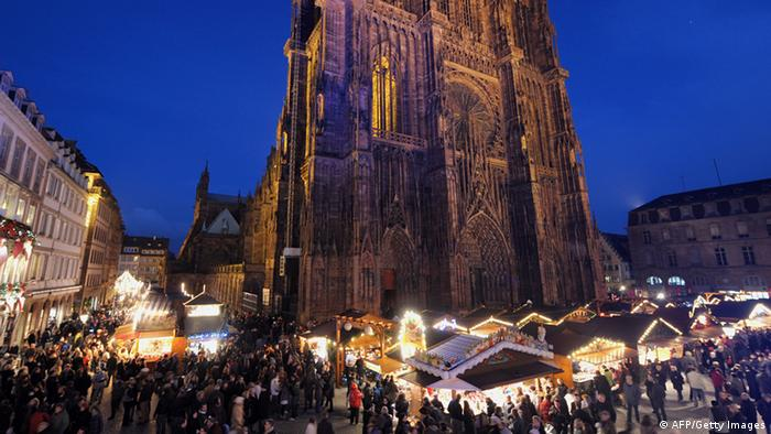 Strasbourg cathedral; AFP PHOTO/FREDERICK FLORIN (Photo credit should read FREDERICK FLORIN/AFP/Getty Images)