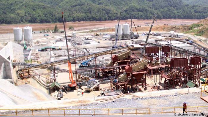 The Xayaburi dam under construction in 2012