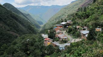 A verdant Bolivian valley