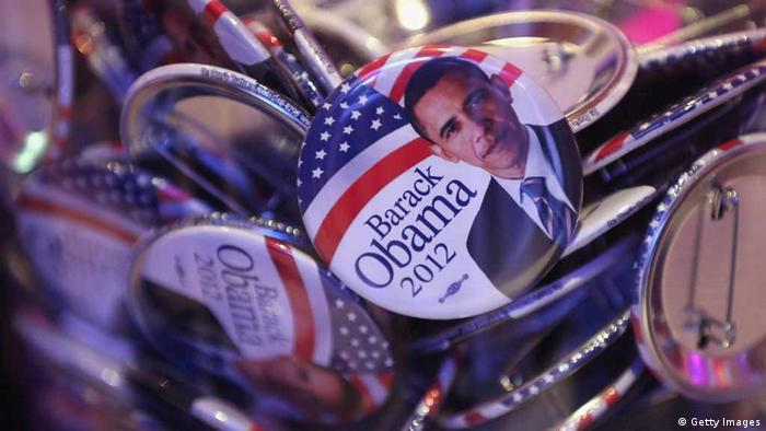 USA Election Day 2012, Obama Buttons in a jar. (Photo by Sean Gallup/Getty Images)