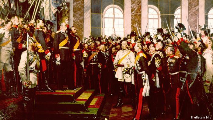 Церемония провозглашения императора Вильгельма I в Версальском дворце. Картина Антона фон Вернера