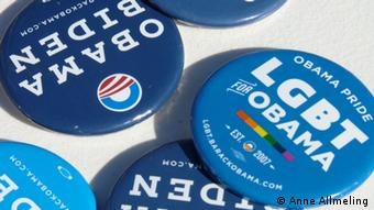 Obama-Button (Foto: DW)