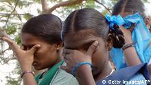 Tsunami weinende Waisenkinder in Indien