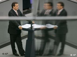 Fading fast? Schröder in parliament on Friday