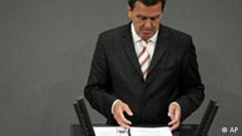 Vertrauensfrage Bundestag Gerhard Schröder