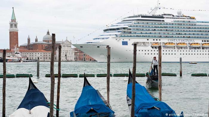 The cruise ship Costa Fascinosa in Venice, Italy