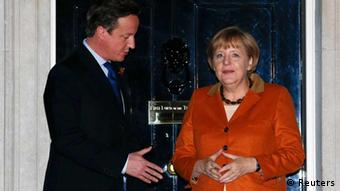 Merkel zu Besuch in London mit David Cameron