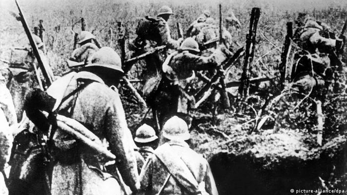 Soldaten bei der Schlacht um Verdun (Foto: dpa pa)