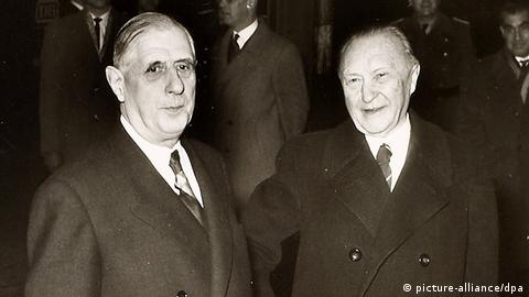 Charles de Gaulle and Konrad Adenauer (picture-alliance/dpa)