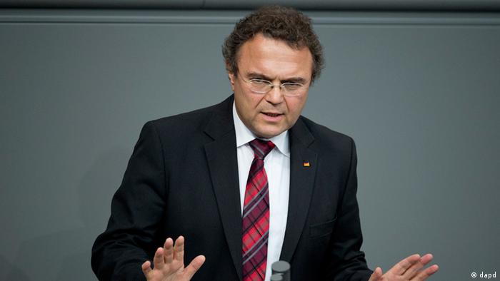 Hans-Peter Friedrich speaking in the Bundestag parliament. (Photo: Michael Gottschalk/dapd)