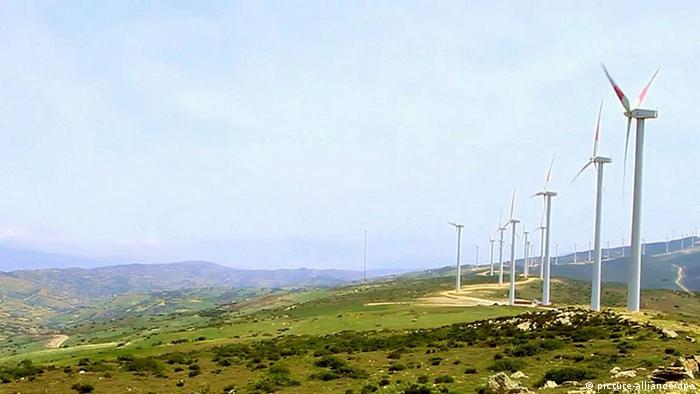 A windpark in Tangier, Morocco