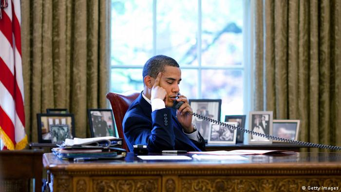 Präsident Obama Telefon (Getty Images)