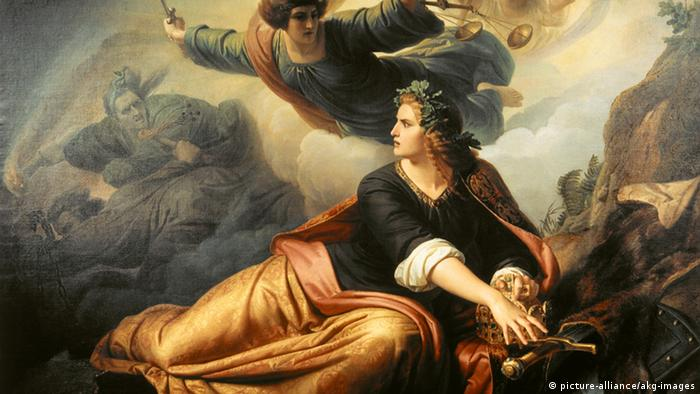 Waking Germania (1849), a painting by Christian Koehler (1809-1861).