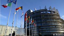 European Union member states' flags flutter in the wind, in front of the building of the European Parliament in Strasbourg, in this file photo taken April 21, 2004. The European Union won the Nobel Peace Prize for its long-term role in uniting the continent, the Norwegian Nobel Committee said on Friday, an award seen as morale boost for the bloc as it struggles to resolve its debt crisis. The committee praised the 27-nation EU for rebuilding after World War Two and for its role in spreading stability to former communist countries after the 1989 fall of the Berlin Wall. REUTERS/Vincent Kessler/Files (FRANCE - Tags: POLITICS)