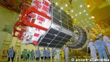 Proton-Rakete mit Glonass Satellit