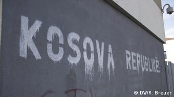 Natpis na zidu Kosova Republikë (Kosovo Republika na albanskom jeziku)