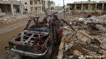 A general view shows destruction in the northern Syrian town of Saraqeb, in the Idlib province, on November 9, 2012. (Photo: PHILIPPE DESMAZES/AFP/Getty Images)
