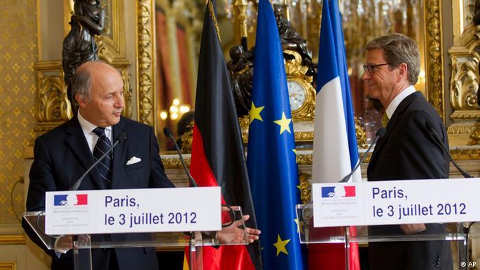 Frankreich Paris Außenminister Fabius Westerwelle