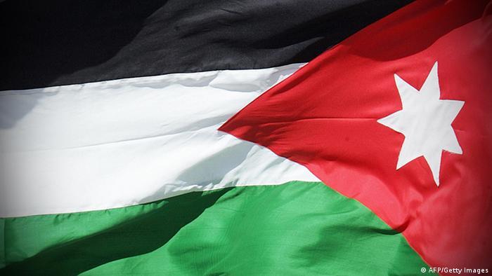 Jordanian flag. AFP PHOTO/ Roberto SCHMIDT (Photo credit should read ROBERTO SCHMIDT/AFP/Getty Images)