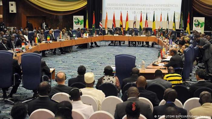 General picture of an ECOWAS Summit gathering West African leaders to plot a military strategy to wrest control of northern Mali from Islamist groups as fears grow over the risks they pose to the region and beyond (Photo: PIUS UTOMI EKPEI/AFP/Getty Images)