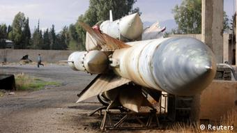 Missiles seen at a Syrian air defense base in after Free Syrian Army fighters seized the base, in eastern Ghouta, on the eastern edge of Damascus November 9, 2012. (Photo: REUTERS/Muhammad Al-Jazari/Shaam News Network/Handout)