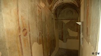 Remains of fading Frescos in the castle (Photo: DW correspondent, Jean di Marino, Italy)