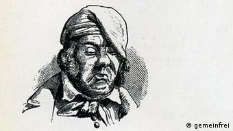 Eine Karikatur des deutschen Michels (Foto: gemeinfrei)